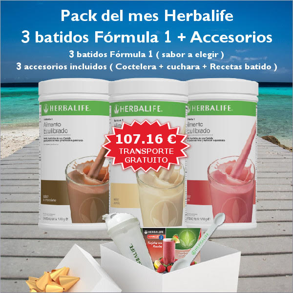 Offre 3 Shakes Formule 1